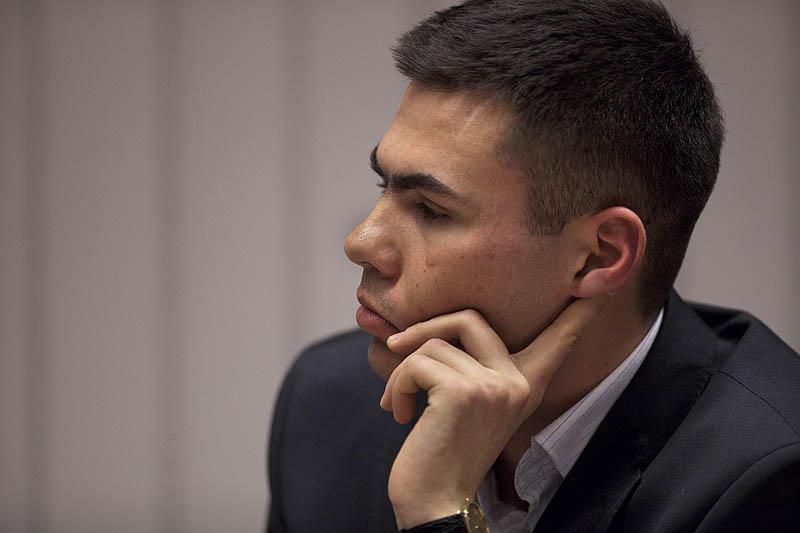 Prowadzący spotkanie, Piotr Mazur