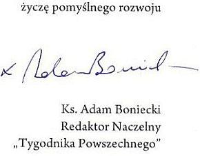 List ks. Adama Bonieckiego