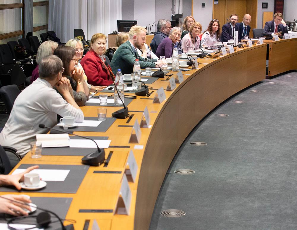 """Wizyta Klubowiczów w budynku Rady Europejskiej podczas Zlotu Klubów """"TP"""" w Brukseli, 1 maja 2019 r., Fot. Adam Walanus"""
